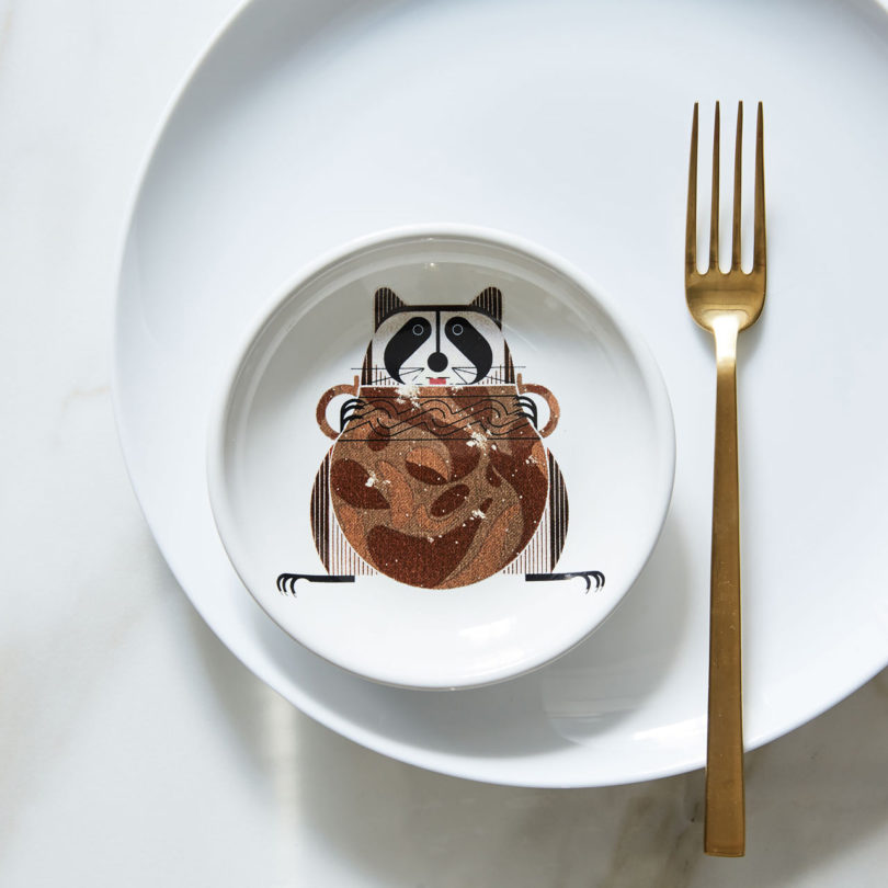 Canape Plate Potbelly & West Elm Unveils the Fishs Eddy Charley Harper Collection - Design Milk