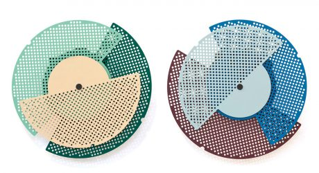 Graphic Time Abstract Clocks by Raw Color for Vij5