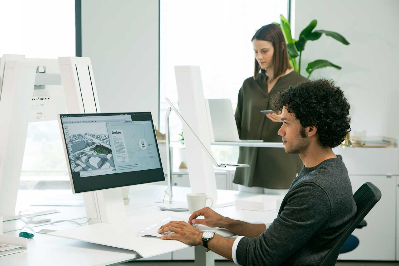 Humanscale Introduces the QuickStand Eco Sit/Stand Workstation
