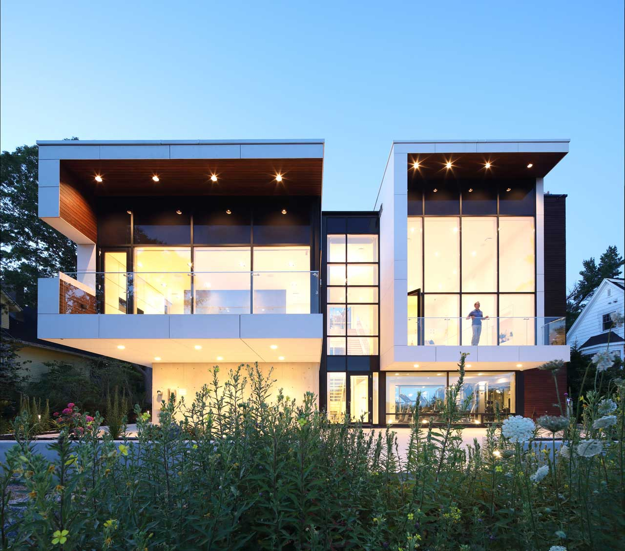 The Syncline House in Nova Scotia Sits Atop a Concrete Base