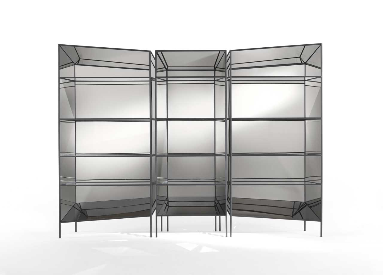 Perflect Geometric Bookshelves That Create Optical Illusions by Sam Baron for JCP