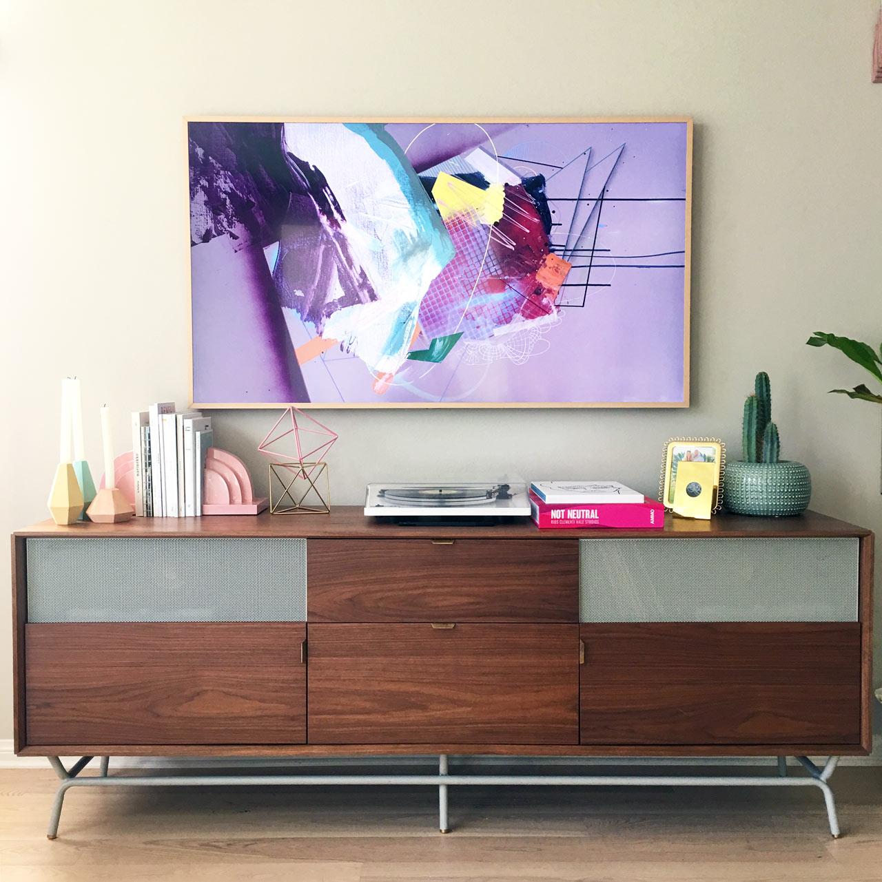 hiding in plain sight samsung 39 s the frame design milk. Black Bedroom Furniture Sets. Home Design Ideas