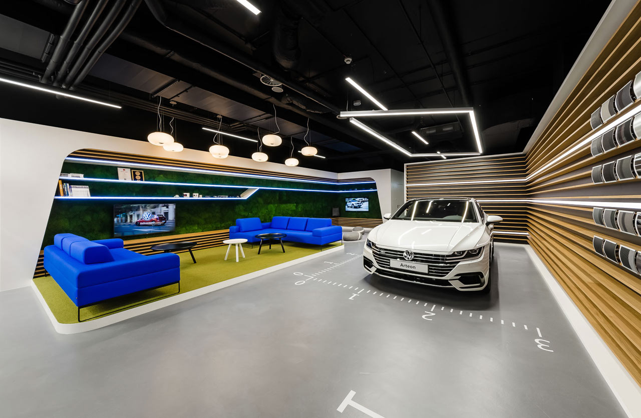 Mode Lina Designs A New Volkswagen Showroom For Polish
