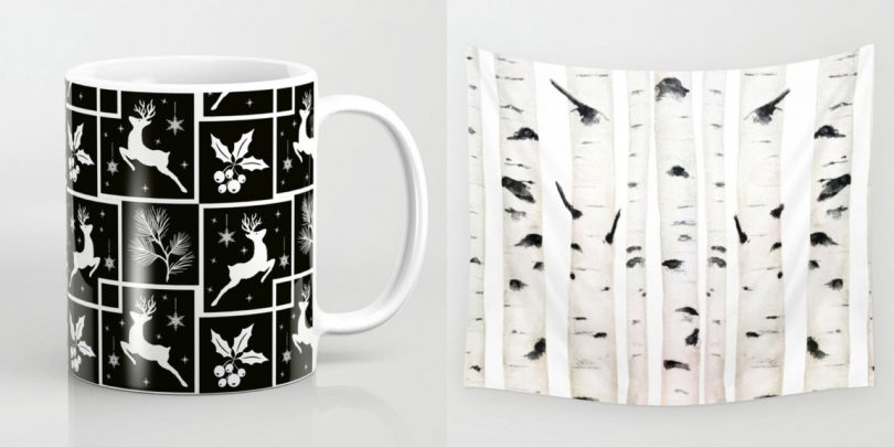 Celebrate a Monochromatic Holiday with Society6