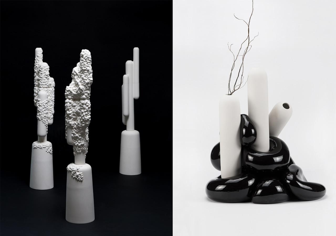Ceramic Vases Inspired by Volcanic Islands