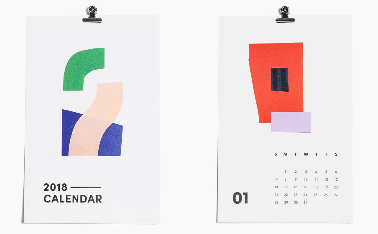 Calendar Typography Xp : Modern calendars for design milk