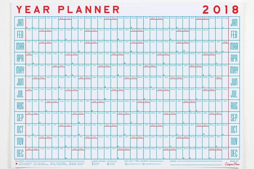 yearly planning calendar
