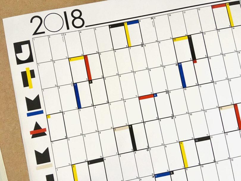 15 modern calendars for 2018 design milk