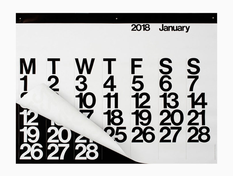 The Classic Stendig Calendar Is A Design Milk Favorite For Its Minimalist,  Yet Bold, Black And White, Oversized Design.