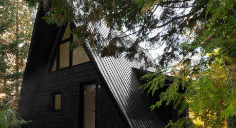 Jean Verville architecte Renovates a Canadian A-frame House