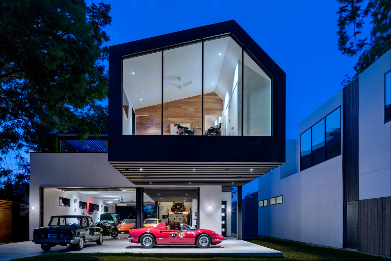 A Car Collector's Modern Residence by Matt Fajkus Architecture
