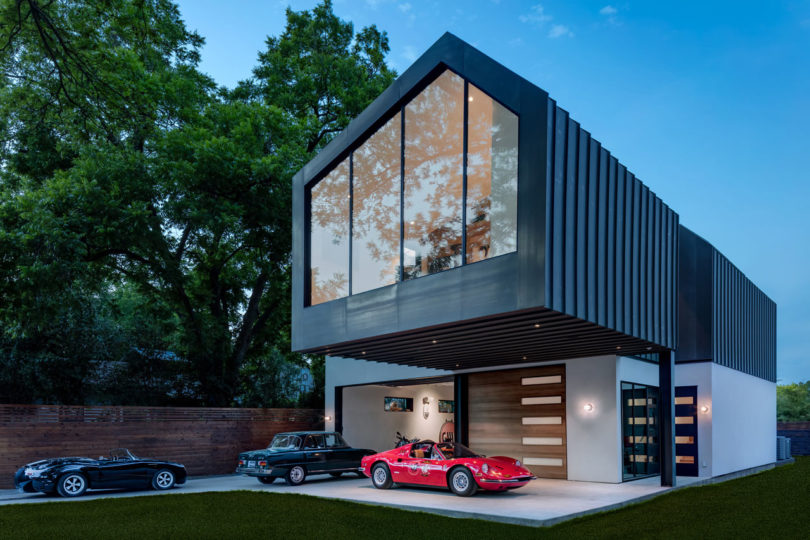 A Car Collectors Modern Residence By Matt Fajkus Architecture