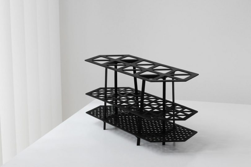 The Gridded Shelf Holds Your Things in Order