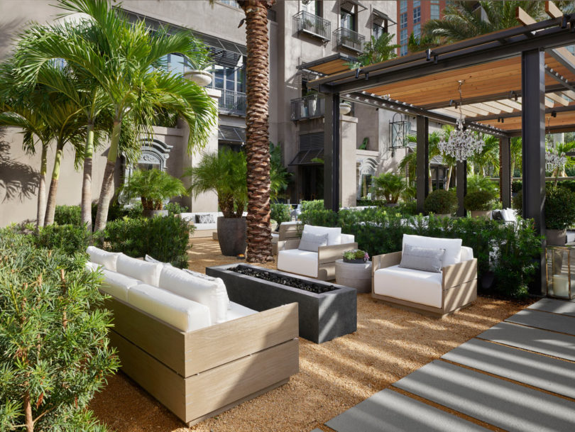 Itu0027s An Idyllic Oasis In The Heart Of West Palm Beach: Lushly Landscaped  Gardens Rich With Medjool Date Palms; Moroccan Tile Fountains Signaling The  Barista ...