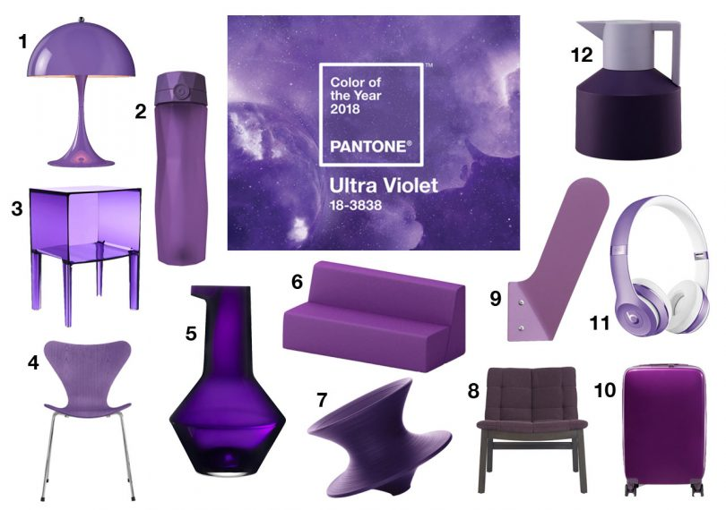 Pantone Color Of The Year 2018 Ultra Violet Decoration