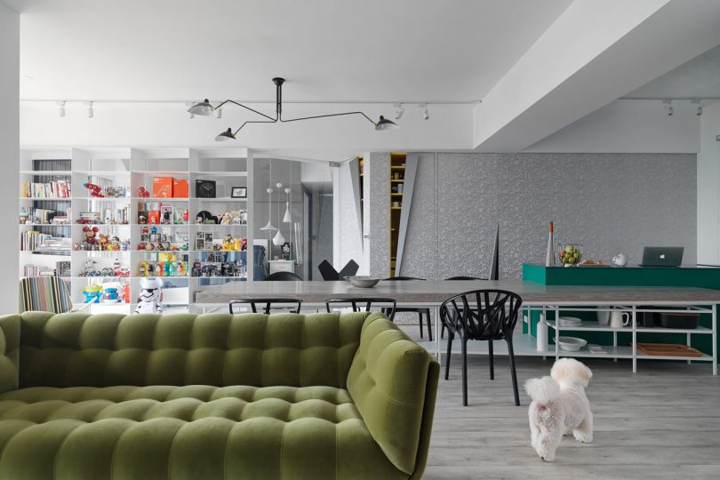 Triangle House: An Apartment in Taiwan Full of Bold Details