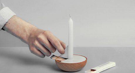Veleiro Minimalist Candle Holder by Ventura Lab