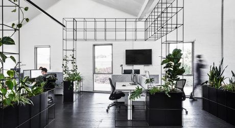 Candlefox HQ: A Graphic, Black and White Office in Melbourne