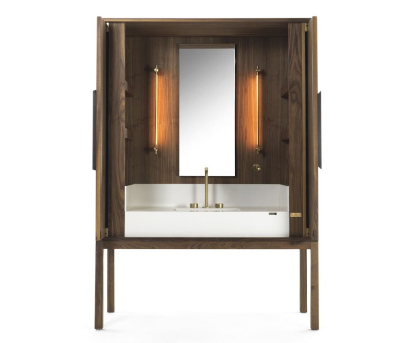 Cosentino Reveals the DeKauri Bath Credenza by Daniel Germani and Riva 1920