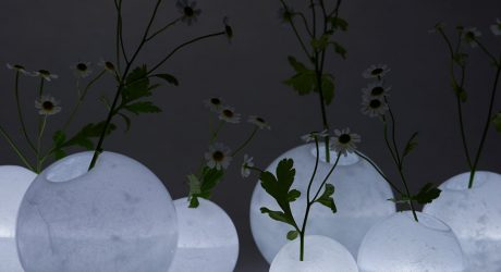 Disguise: Moon-Like Vases Made from Layered Wax by we+