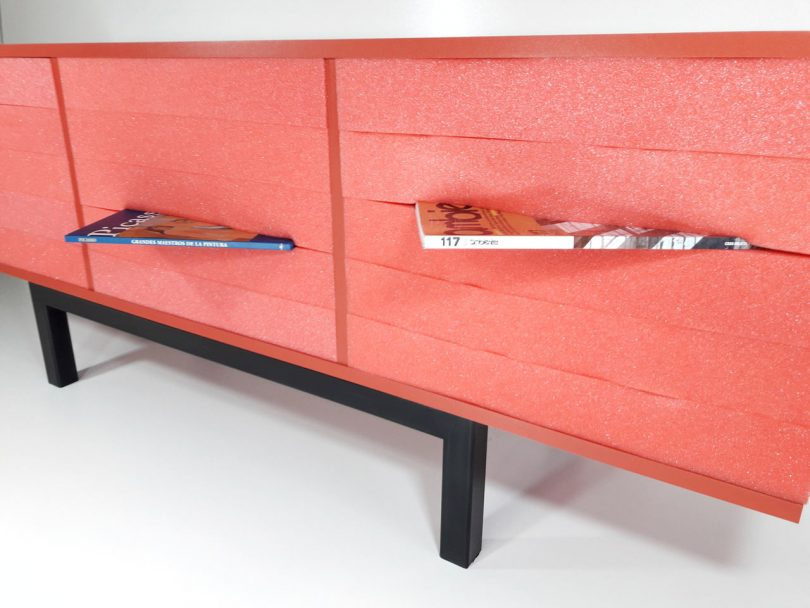 Enigma: A Foam Cabinet That Does Away with Drawers and Doors
