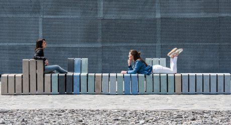 Sustainable Outdoor Seating Made from Yogurt Cups by Studio Segers