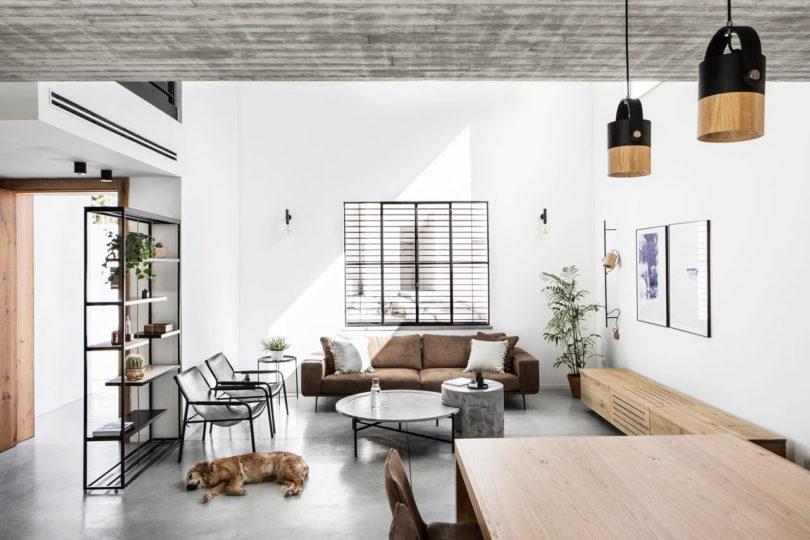 A Modern, Monochromatic House in Nir Am, Israel