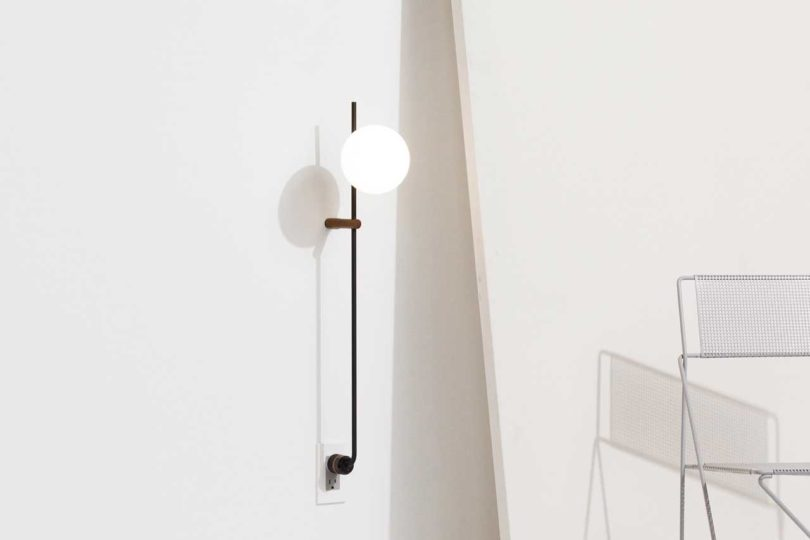 The lynea plug lamp doesnt require hardwiring design milk theyve just unveiled the lynea plug lamp a minimalist lamp that requires no hardwiring that means no electrician is required simply plug it right into aloadofball Gallery