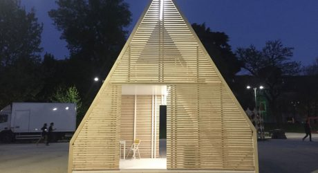 M.A.DI. Unfolds Into a Solar-Powered A-Frame In Just a Few Hours