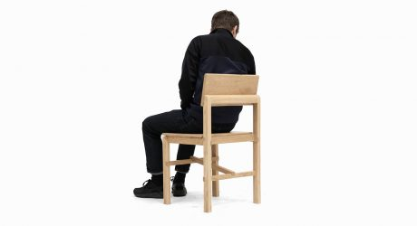 Montreuil Oak Chair Built with Glued Half-Lap Joints by Sebastian Erazo