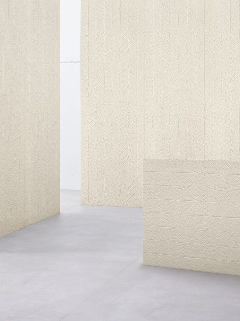 Raw edges introduces latest tile collections for mutina tile surface via a machine to get the textured tiles as with tape above folded xl can be used both inside and outside and on the floors and walls dailygadgetfo Images