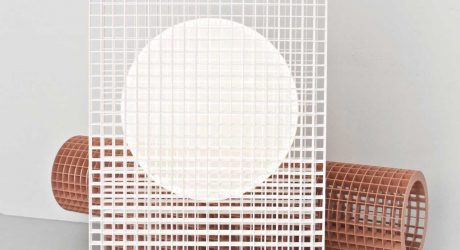 Matrix: A Light and Bench Built From a Grid Structure by OS & OOS