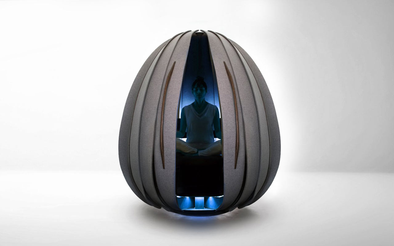 Office Pod Open Vessel Meditation Pods Give You a Break at the Office