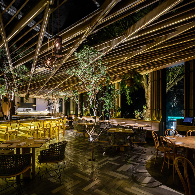 Piedra sal a modern restaurant in mexico city design milk - Sal de roca ...