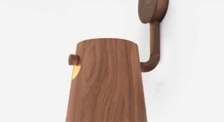 Pierre + Charlotte Launch Bucket Lighting Series Made of Tasmanian Woods