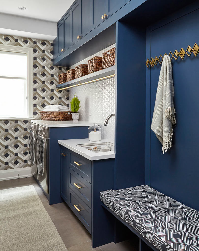 Photo By Valerie Wilcox. Cadieux Design Created This Laundry Room ...