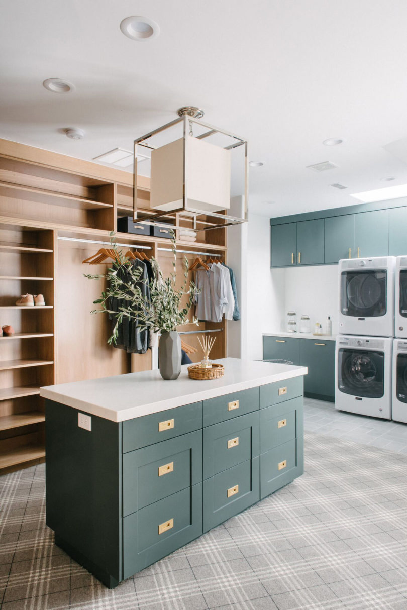 The Hand Buffed, High Gloss White Cabinets Are Combined With Solid Walnut  Accents And Floating Shelves For Storage Hang Above Without Blocking Light  Coming ...