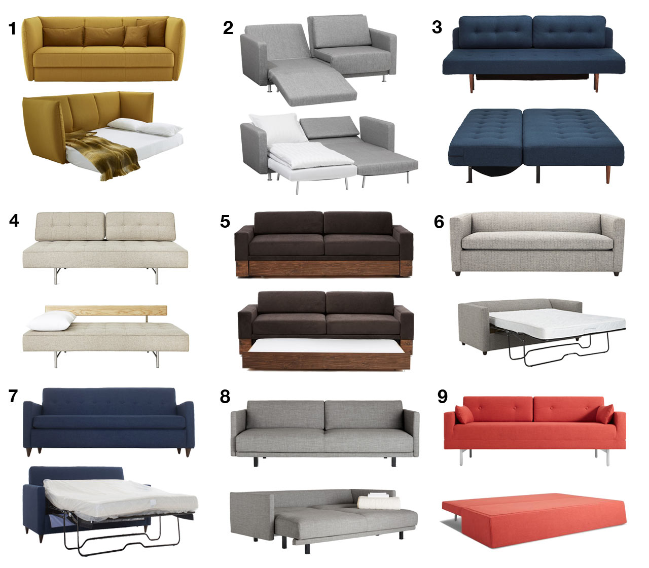 Modern sofa beds and sleeper sofas your guests wont hate to sleep on