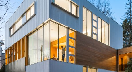 A House Composed of Stacked Blocks by Lazor Office