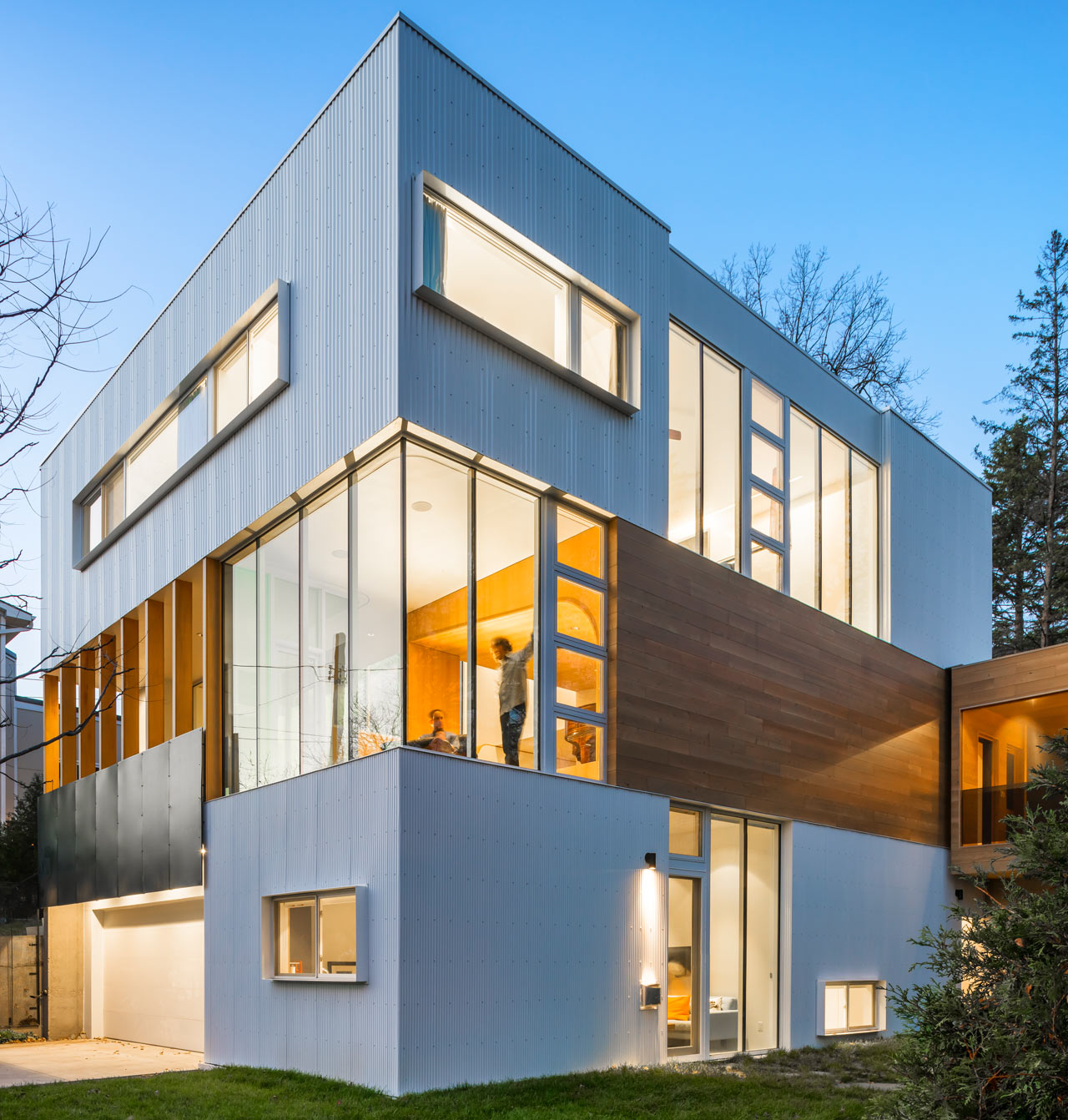 A House Composed of Stacked Blocks