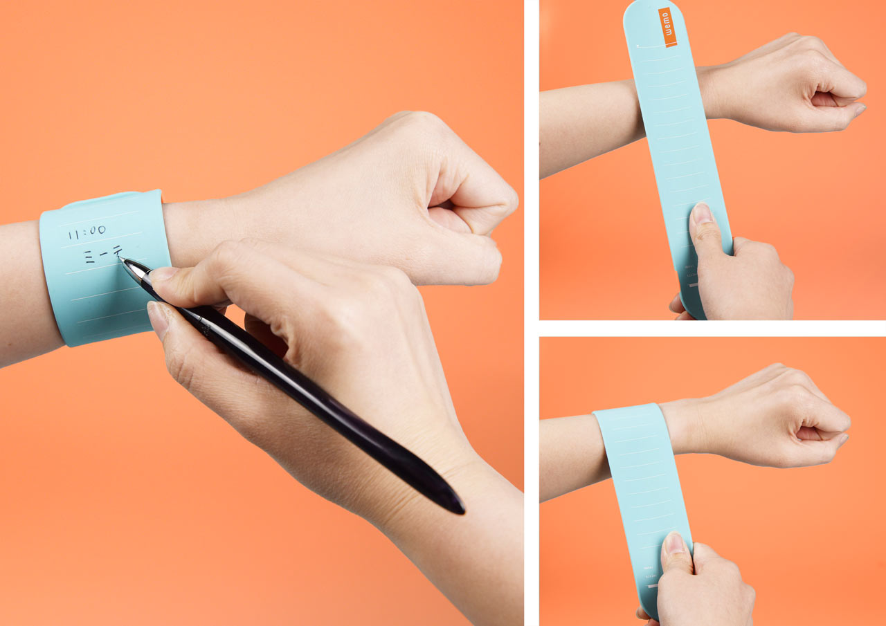 wemo: Wearable Memos That Wrap Around Your Wrist so You Never Forget