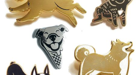 Enamel Dog Pins and Buttons from Lili Chin
