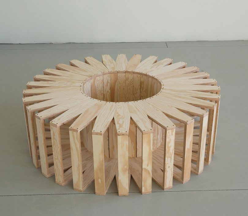 30 Connected Frames Can Be Arranged in Various Ways to Form the Coil Bench