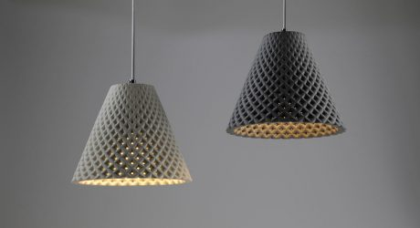 HELIA Concrete Mesh Light Fixtures by Dror Kaspi for ARDOMA Design