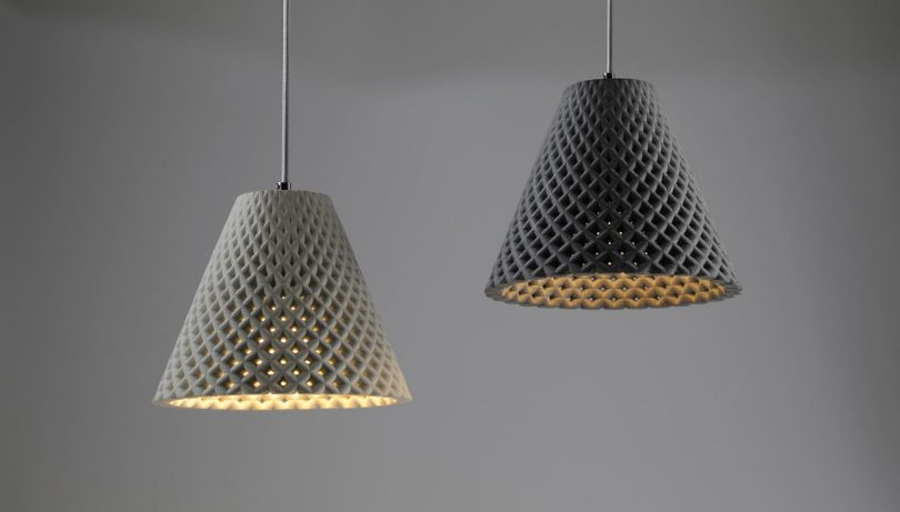 HELIA Concrete Mesh Light Fixtures by Dror Kaspi for ARDOMA Design