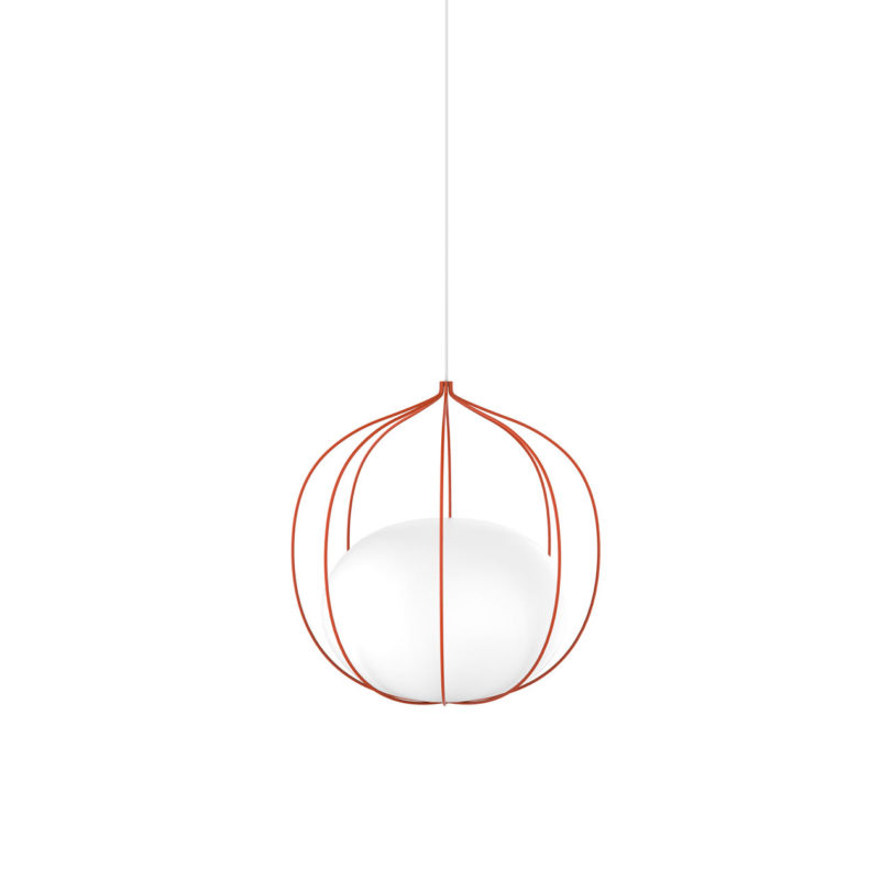Front S Hoop Light Has A Globe Suspended Within A Cage