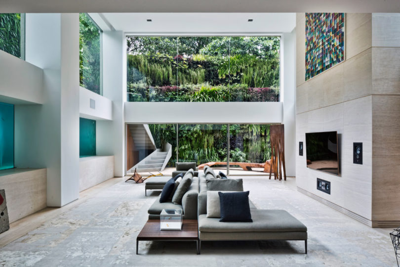 A Brazilian Duplex with a Pool That Becomes Art by Fernanda Marques