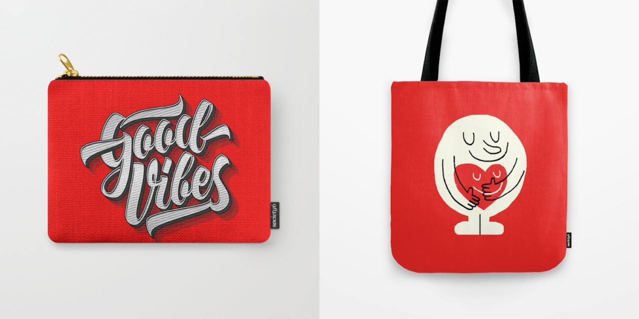 Seeing Red for Valentine's Day with Society6