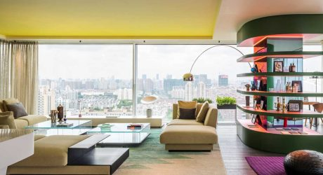 Gentil Chromatic Spaces: An Energetic Apartment In Shanghai