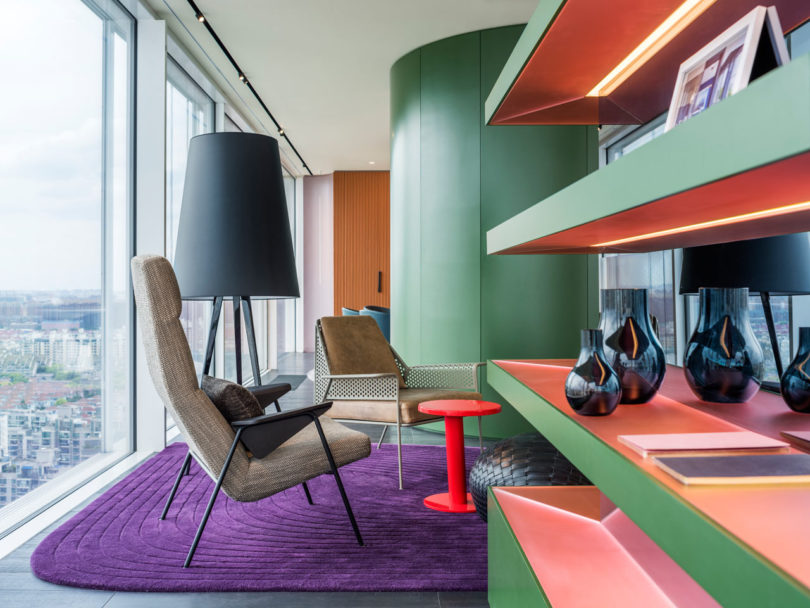Chromatic spaces an energetic apartment in shanghai design milk - Colors for modern living room chromatic vitality ...
